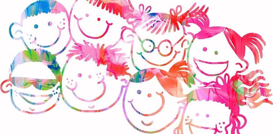 Bambini sorridenti inclusione