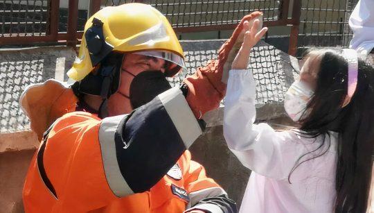 protezione civile bambina